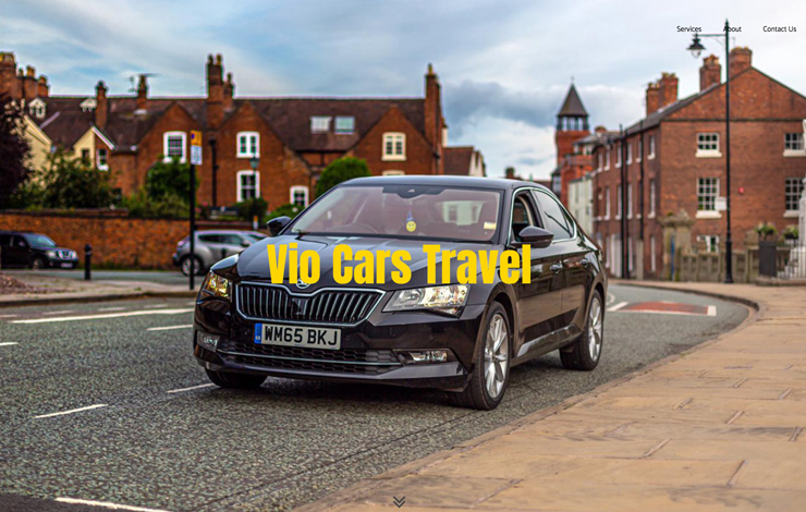 Website Design for Taxi in Shrewsbury | Vio Cars Travel