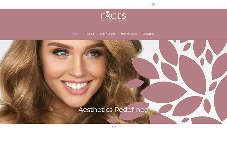 Website Design for Aesthetic courses in UK