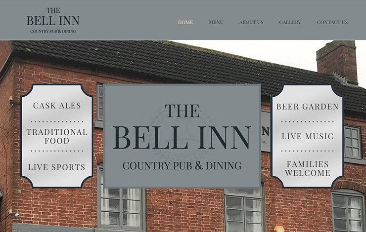 Website Design for Country Pub and Dining in Anslow | The Bell Inn