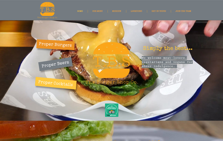Website Design for Burgers in Arundel and Falmouth | The Burger Shop Co.