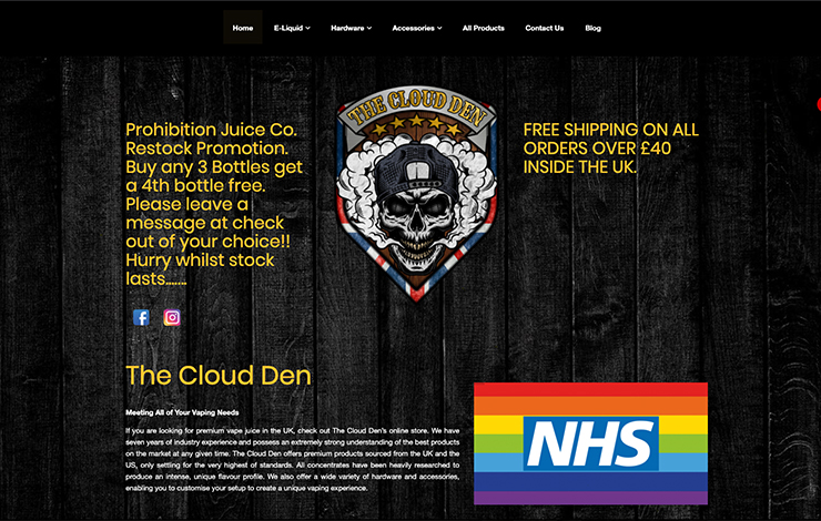 Website Design for Premium Vape Juice in the UK