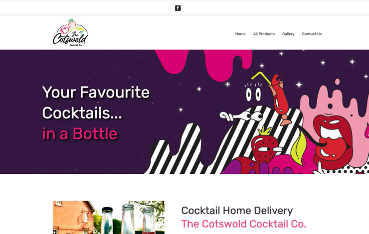 Website Design for The Cotswold Cocktail Company | Cocktail Home Delivery
