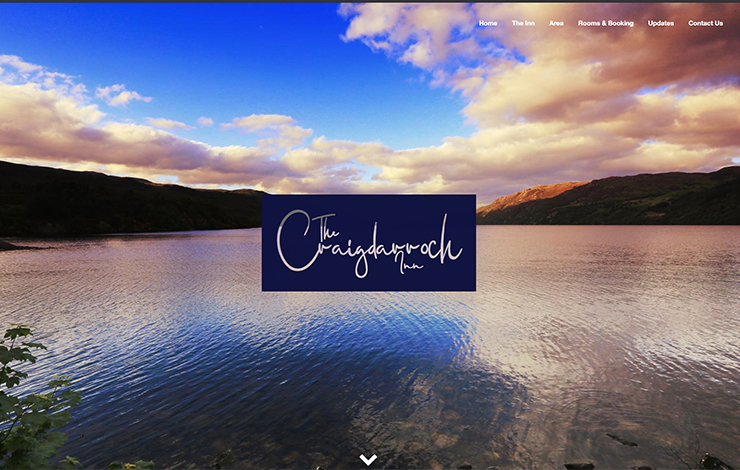 Website Design for Guest House in Loch Ness | The Craigdarroch Inn