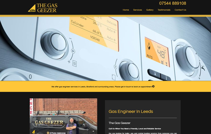 Website Design for The Gas Geezer | Gas Engineer in Leeds