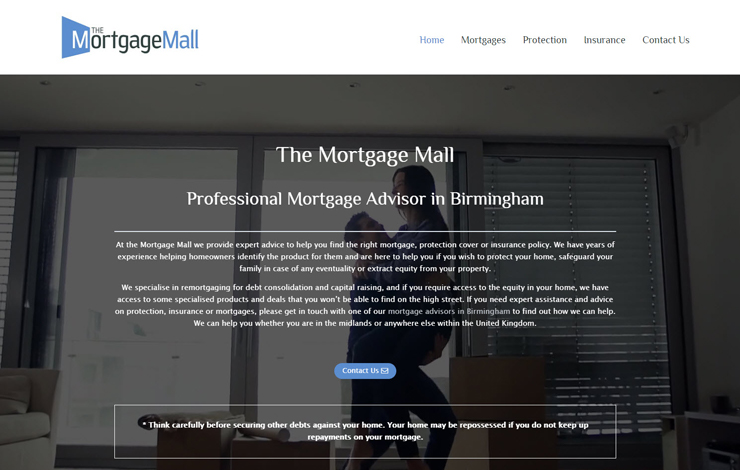Website Design for Mortgage advisor in Birmingham and Wolverhampton