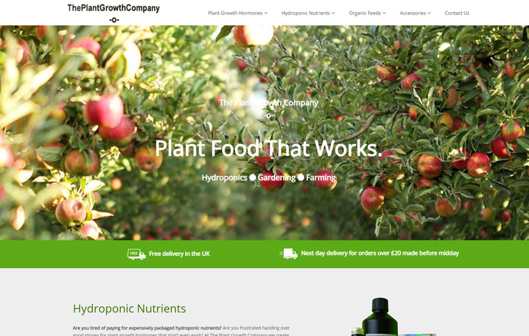 The Plant Growth Company | Hydroponic Nutrients and Plant Feed