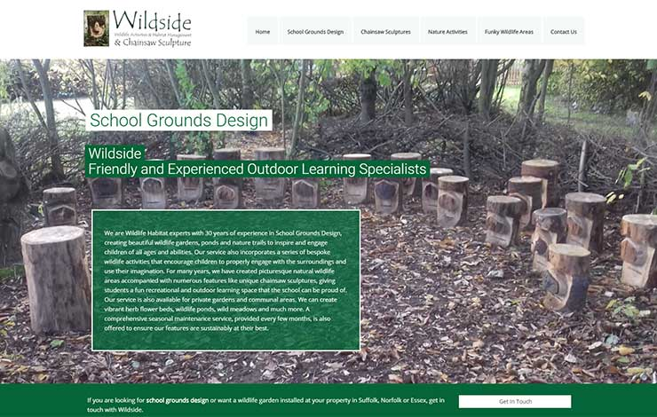 Website Design for School Grounds Design in Suffolk and Norfolk | The Wildside