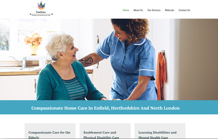 Home Care in Enfield | Time2Care (Barnet) Ltd.