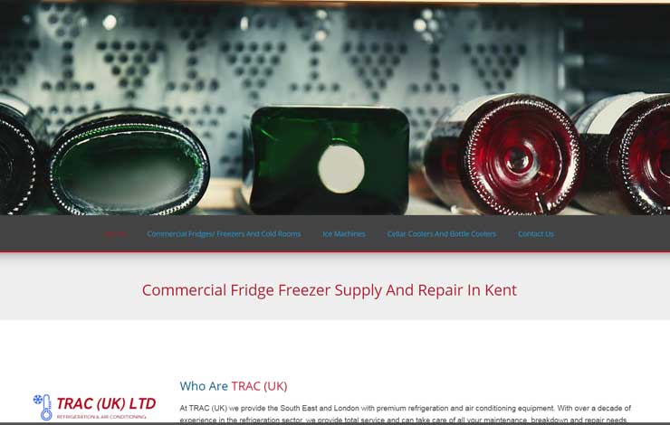 Website Design for Commercial Fridge Freezer Supply and Repair in Kent