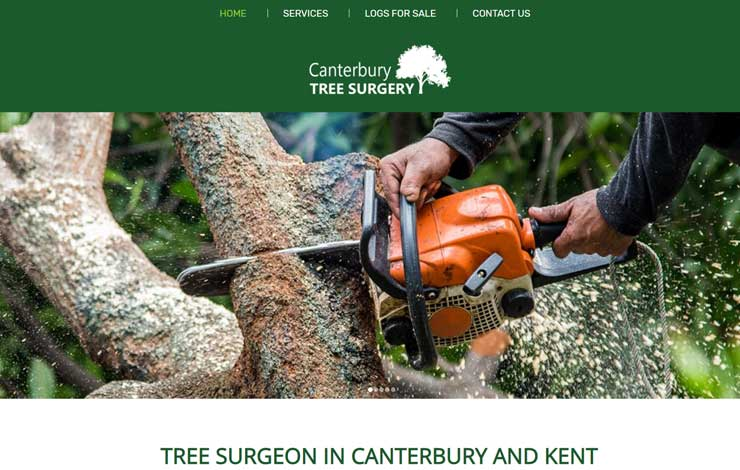 Website Design for Tree Surgeon in Canterbury | Canterbury Tree Surgery