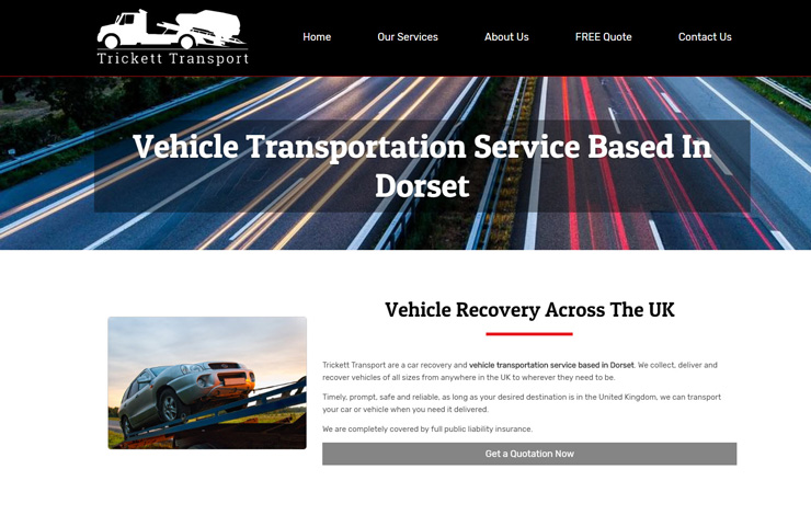 Vehicle Transportation Service Based In Dorset