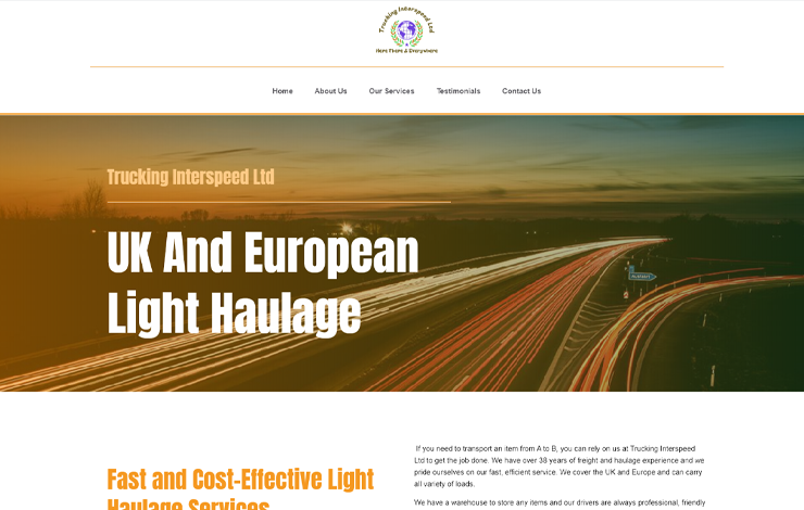 UK Road Haulage | Trucking Interspeed LTD