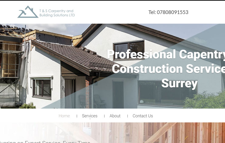 Website Design for Construction and Carpentry in Surrey | T & S Carpentry and Building