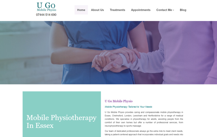 Website Design for Mobile Physiotherapy in Essex