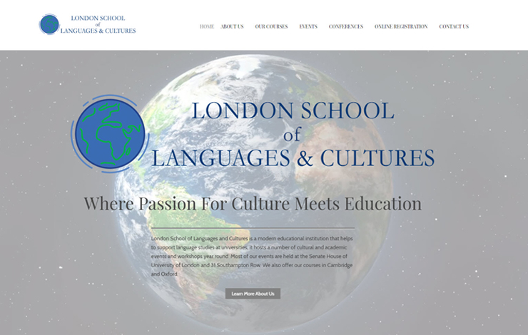 Website Design for London School of Language and Culture