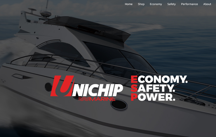 Website Design for Unichip Marine | Power Boat Engine Performance Chip
