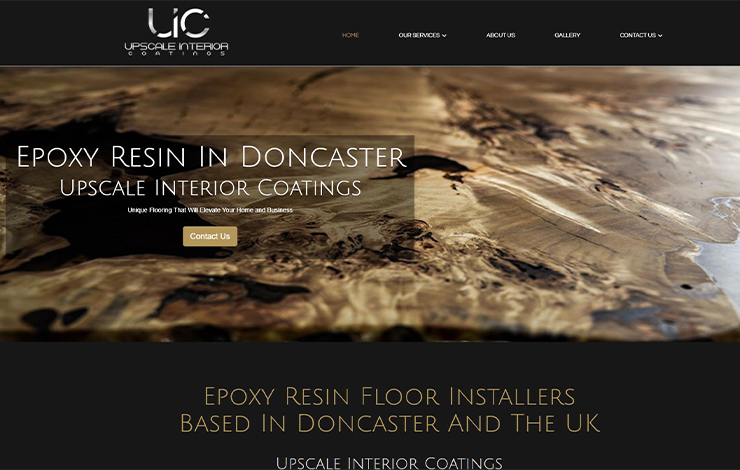 Website Design for Epoxy Resin Floor Installation | Upscale Interior Coatings