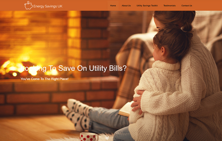 Website Design for Energy Savings UK | Save on Utility Bills