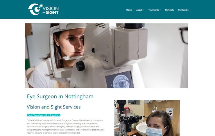 Website Design for Eye surgeon in Nottingham | Dr Dalia Said