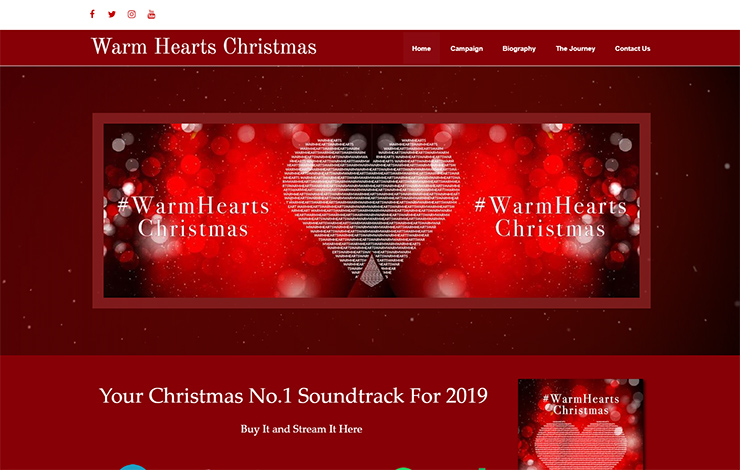 Website Design for Christmas Number One | Warm Heats Christmas
