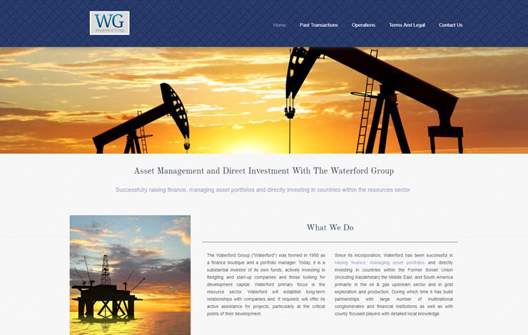 Website Design for Direct Investment and Asset Management