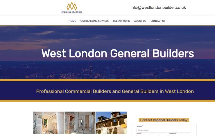 Website Design for General Builder in West London