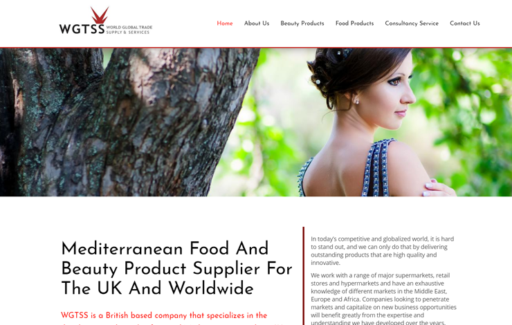 Website Design for Mediterranean Food and Beauty Supplier
