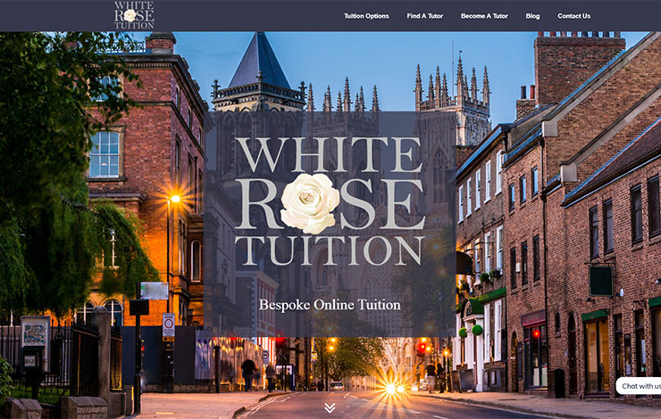 Website Design for Private Tutors in Yorkshire and the UK | White Rose Tuition