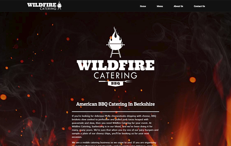 Website Design for American BBQ Catering In Berkshire
