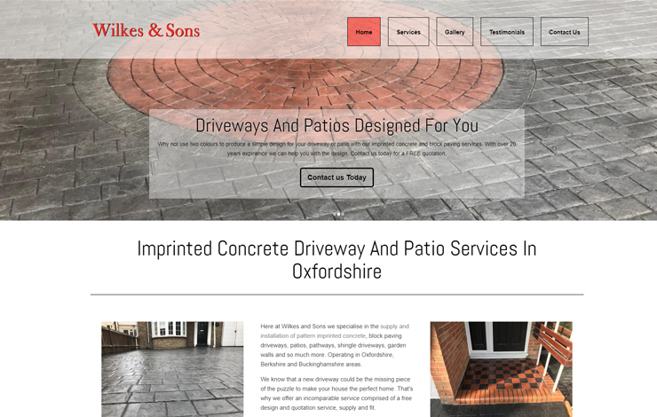 Imprinted concrete driveways and patios in Oxfordshire