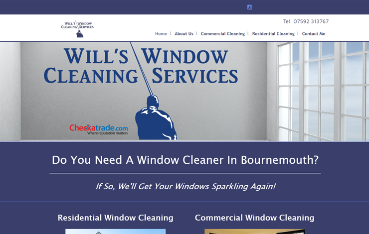 Website Design for Window Cleaner in Bournemouth