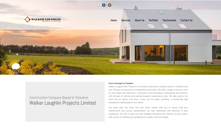 Website Design for Construction Company Based in Yorkshire | WGL Group