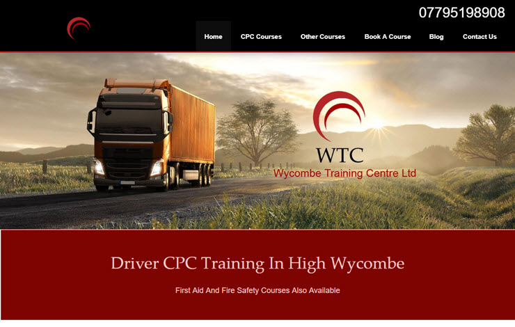Website Design for Driver CPC Training in High Wycombe