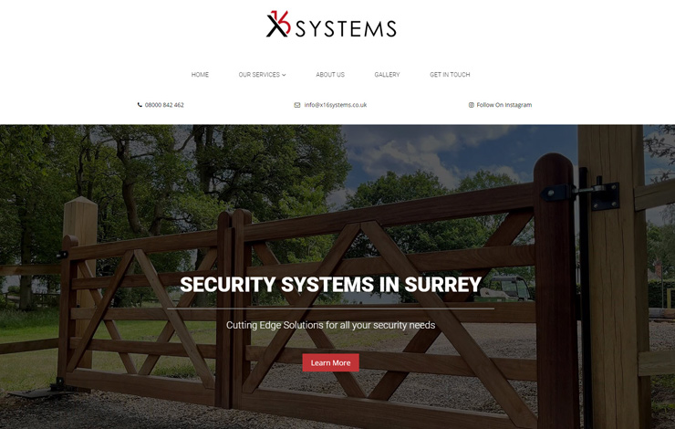 Security systems in Surrey | X16 Systems