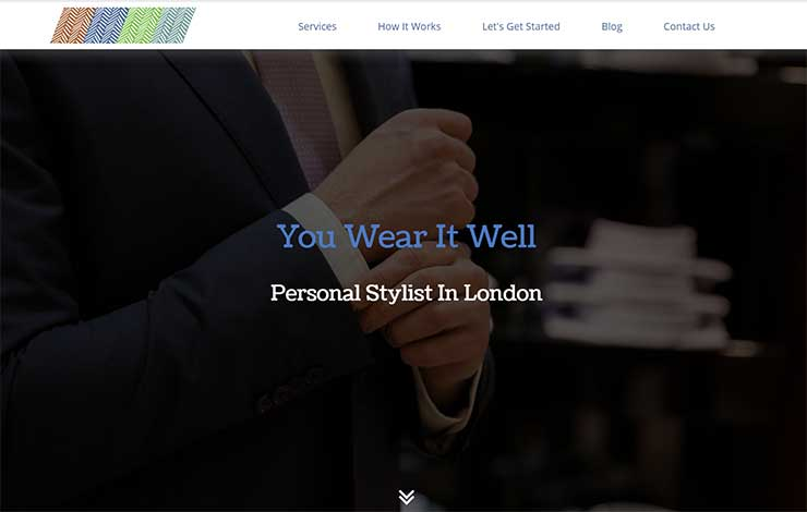 Website Design for Men's Personal Stylist in London | You Wear It Well