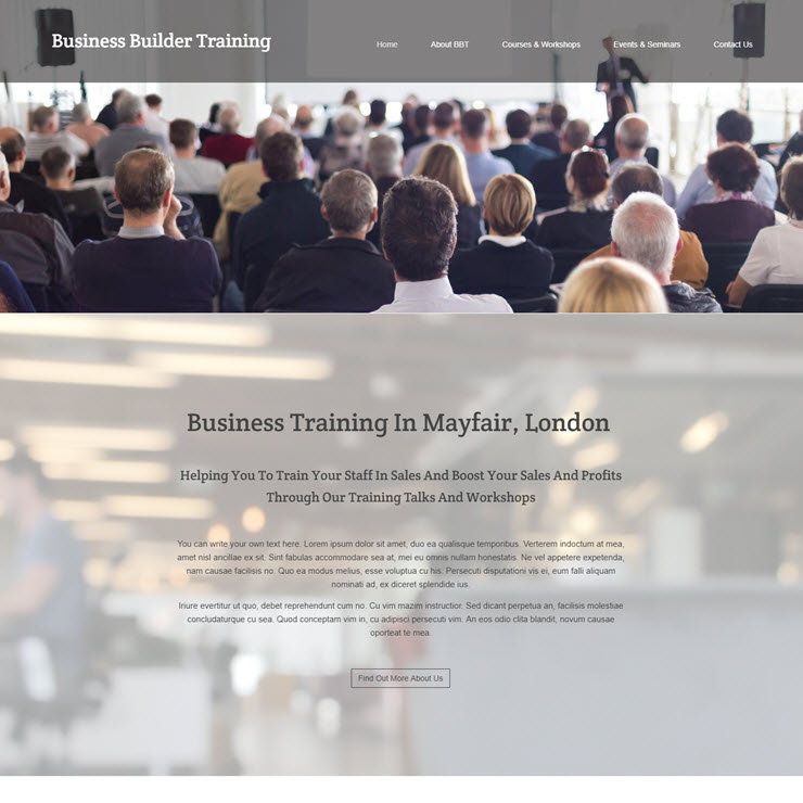 UK Website builder templete Business Builder Training
