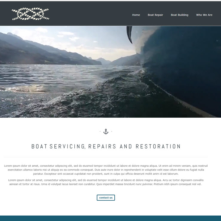 UK Website builder templete Boat builder