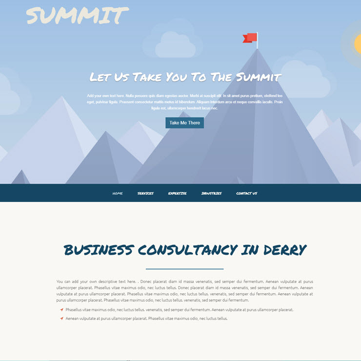 UK Website builder templete Business Consultants: SUMMIT