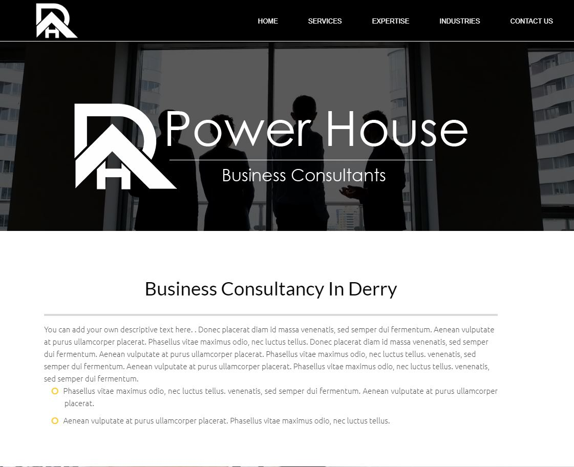 UK Website builder templete Power House Business Consultants