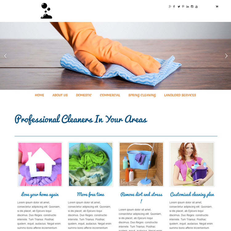UK Website builder templete Alicia Cleaner1
