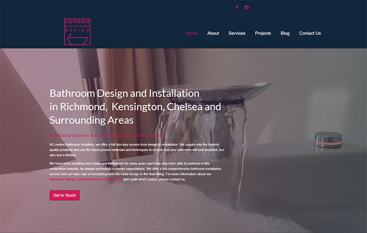 UK Website builder templete Bathroom Design