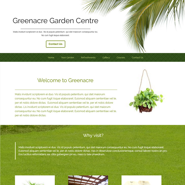 UK Website builder templete Gardening