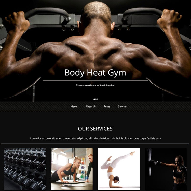 UK Website builder templete Body Heat Gym