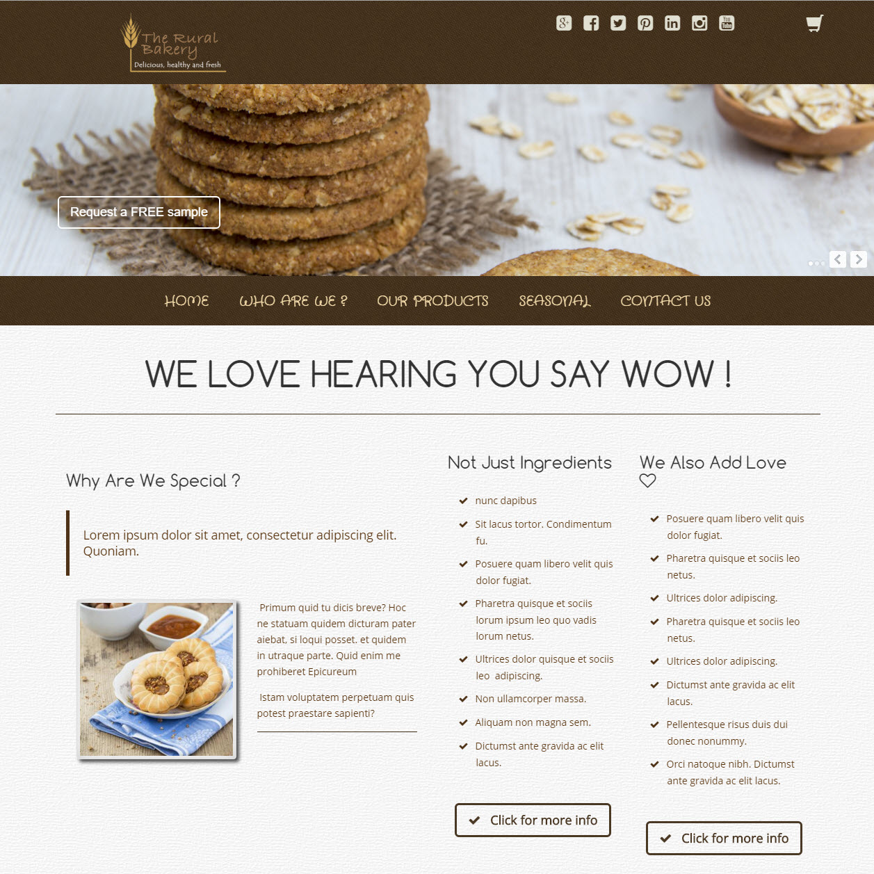 UK Website builder templete Bakery Cookie Site