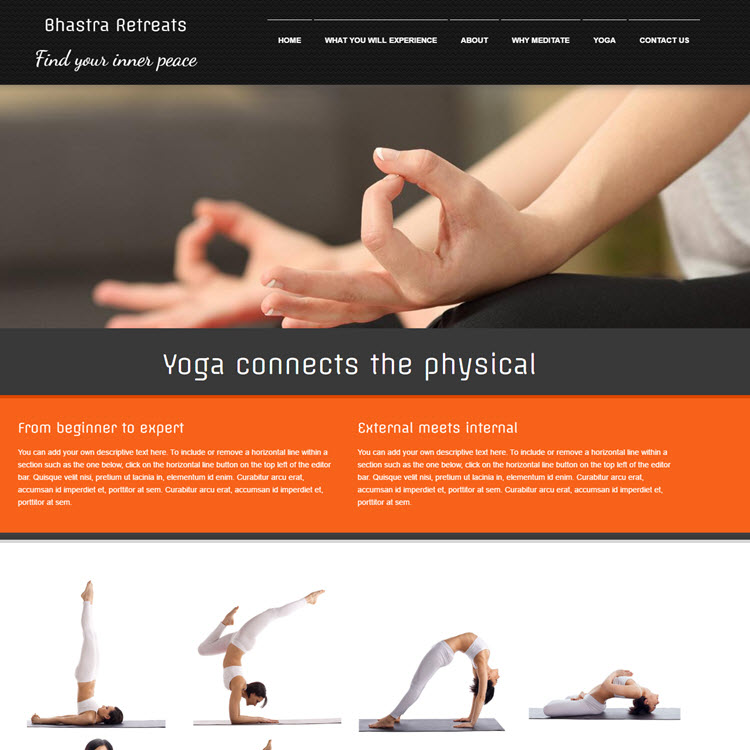 UK Website builder templete Bhastra Retreats