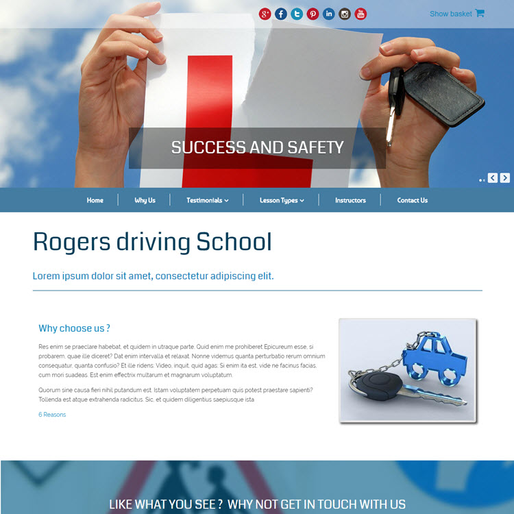 UK Website builder templete Driving School (1)
