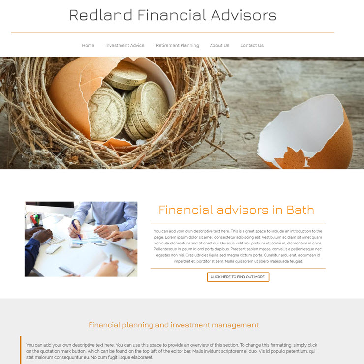 UK Website builder templete Redland Finacial Advisor