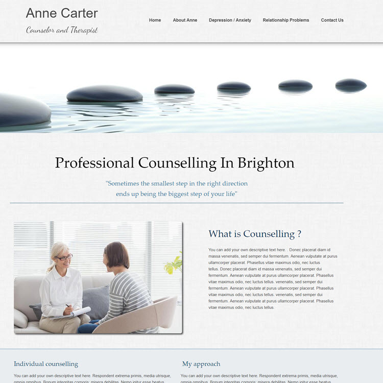 UK Website builder templete Anne Carter Counselling