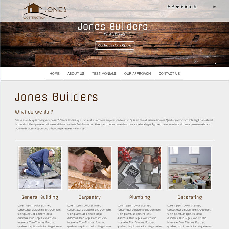 UK Website builder templete Bulider Site 1