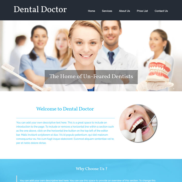 UK Website builder templete Dental doctor